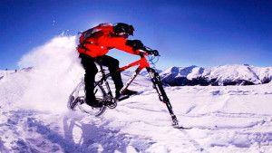 Катание на лыжном велосипеде